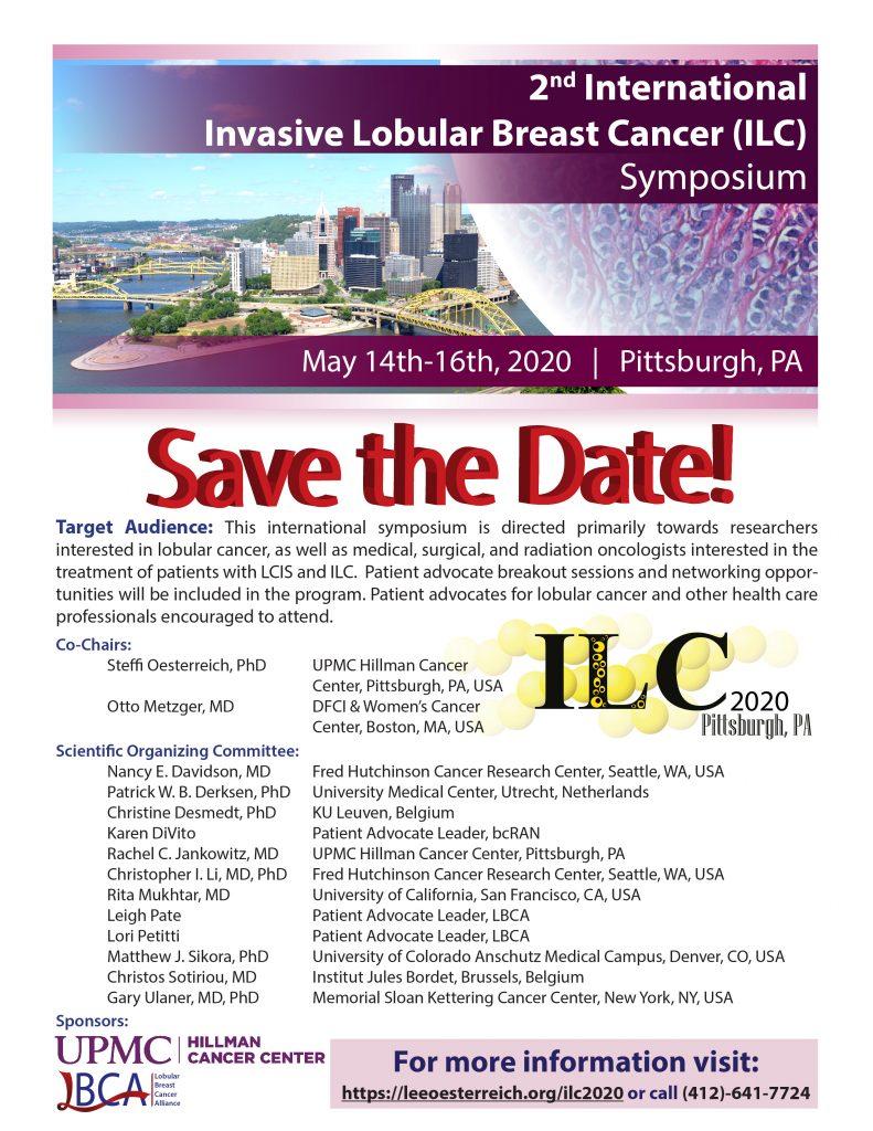 Save the Date! 2nd International Invasive Lobular Breast Cancer
